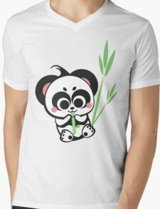 Panda!! Mens V-Neck T-Shirt
