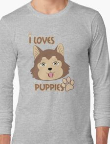 Brown Eyes Puppie Long Sleeve T-Shirt