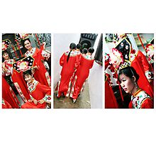 Traditional Vietnamese Dancers Photographic Print