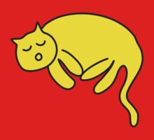 Yellow Cat sleeping by Steve Dunkley