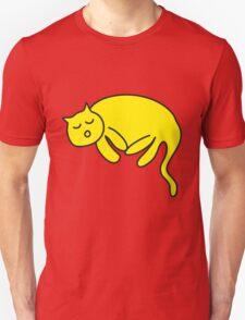 Yellow Cat sleeping T-Shirt