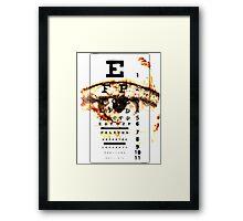 Eye Chart - POSTER Framed Print
