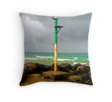 End of break wall Throw Pillow