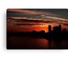 and yet another day closes... Canvas Print