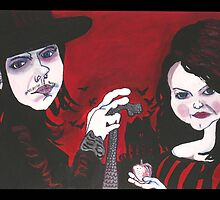 Jack and Meg by dilkysilk