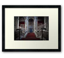 Margam Castle staircase Framed Print