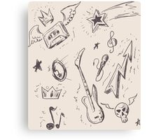 Music Drawings Canvas Print