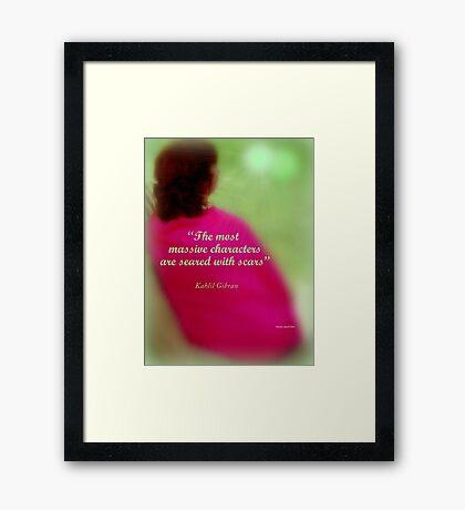 Réflexion Framed Print