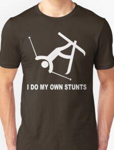 Hardcore ski 'i do all my own stunts' stuntman funny geek nerd T-Shirt