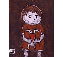 Child with a doll Photographic Print