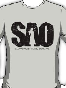 Sword Art Online Scavenge Slay Survive T-Shirt