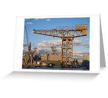 Historic crane Greeting Card