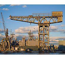 Historic crane Photographic Print