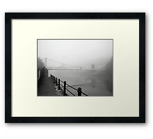 The Shakey Bridge In The Fog Framed Print