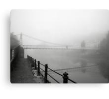 The Shakey Bridge In The Fog Canvas Print