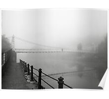 The Shakey Bridge In The Fog Poster