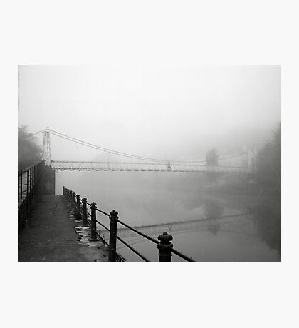 The Shakey Bridge In The Fog Photographic Print