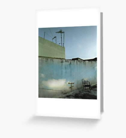 Wall with Sky Greeting Card