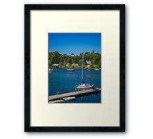 Oakland from Mahone Bay Framed Print