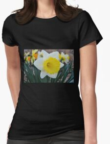Daffodil in the Garden Womens Fitted T-Shirt