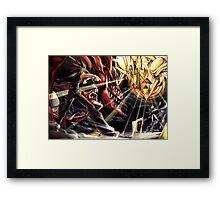 Yu-Gi-Oh! - Yami Yugi Vs Marik Framed Print