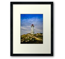 Louisbourg Lighthouse Framed Print