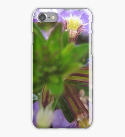 Purple Flower with Dew Drops iPhone Case/Skin