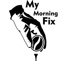My morning Fix - a golfers Coffee Photographic Print