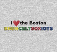 I Love Boston Sports (red heart) by Jeff Newell