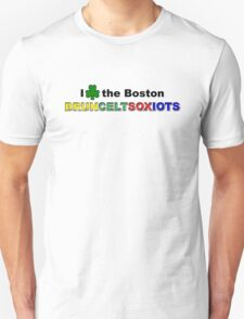 I Love Boston Sports (green shamrock) T-Shirt