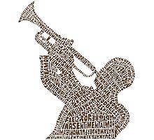 Jazz trumpet player Photographic Print