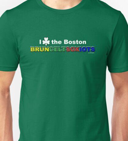 I Love Boston Sports (white shamrock) Unisex T-Shirt