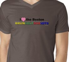 I Love Boston Sports (pink heart 2) Mens V-Neck T-Shirt