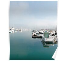 Boats at Trieste Harbour Poster