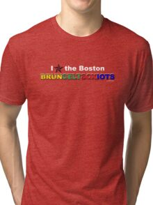 I Love Boston Sports (nautical star) Tri-blend T-Shirt