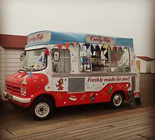 Classic Retro 70s British Ice Cream Van by InspiredPhoto