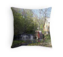 Country Waterwheel Throw Pillow
