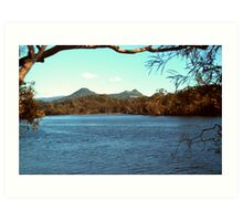 Brunswick River scene Art Print