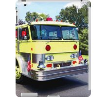 Yellow Fire Truck iPad Case/Skin