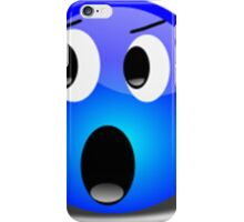 Shocked Blue Smiley Face iPhone Case/Skin