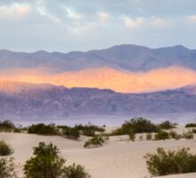 Burning Sunrise in Death Valley Sticker