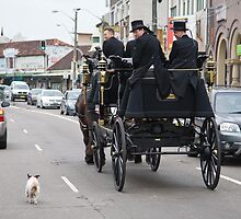 Funeral escort by Alex Howen