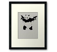 Banksy Panda With Guns Framed Print