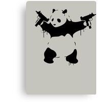 Banksy Panda With Guns Canvas Print