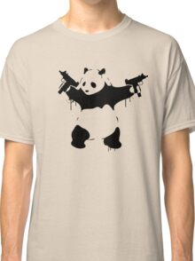 Banksy Panda With Guns Classic T-Shirt