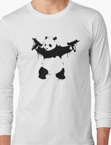 Banksy Panda With Guns Long Sleeve T-Shirt