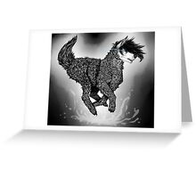 Running Dog Greeting Card