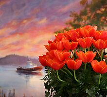 Tugs and Tulips by lizalady
