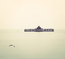 Herne Bay Victorian Pier Silhouette by InspiredPhoto