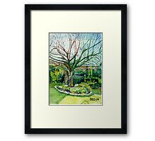 Spring time apple tree Framed Print